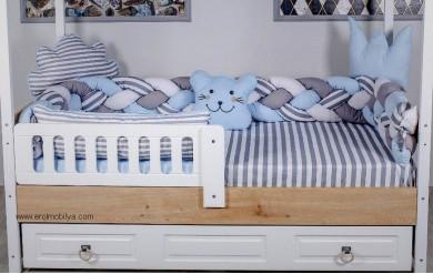 Mavi Örgü Montessori Uyku Seti