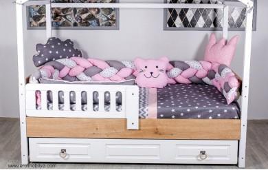Pembe Örgü Montessori Uyku Seti