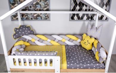 Sarı Örgü Montessori Uyku Seti