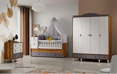 Montero 4 Kapılı Bebek Odası Takımı