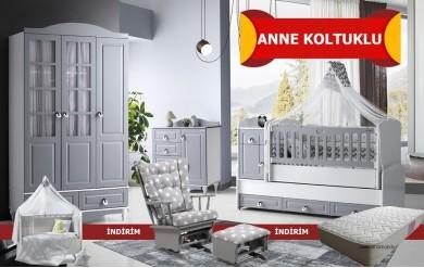 Grey Anne Koltuklu Bebek Odası