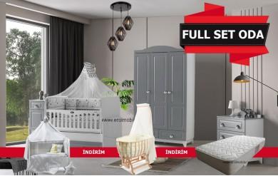 Grey Bebek Odası Full Set