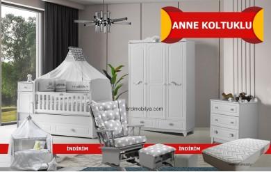 Kral Anne Koltuklu Bebek Odası