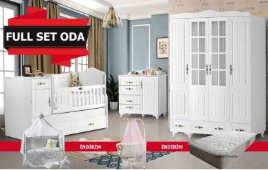 Osmanlı 4 Kapılı Full Set Bebek Odası