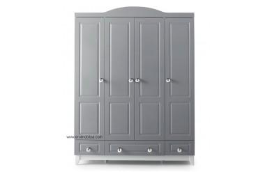 Grey 4 Kapılı Gardırop