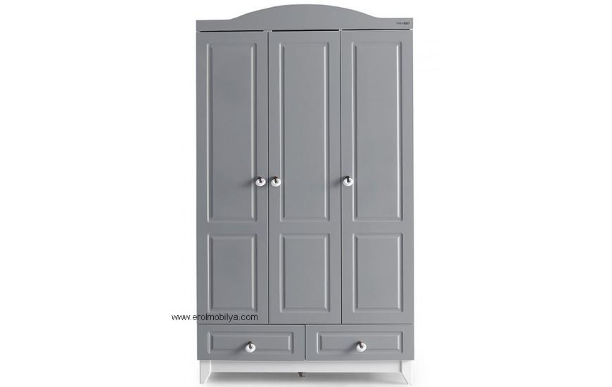 Grey 3 Kapılı Gardırop