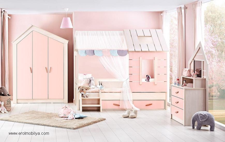 Pink House Çocuk Odası Takımı
