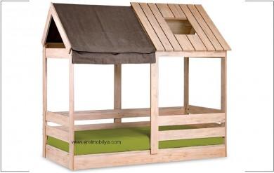 My House 100x200 Montessori Karyola