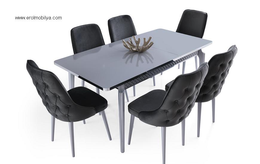 Silver Masa Sandalye Takımı