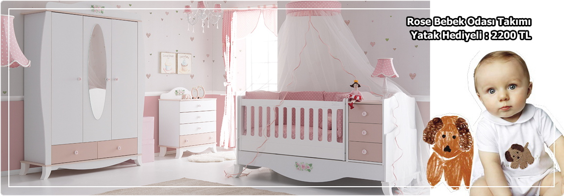 Rose Bebek Odası Takımı