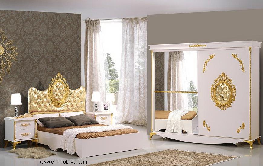 Sıla Altın Mdf Yatak Odası Takımı