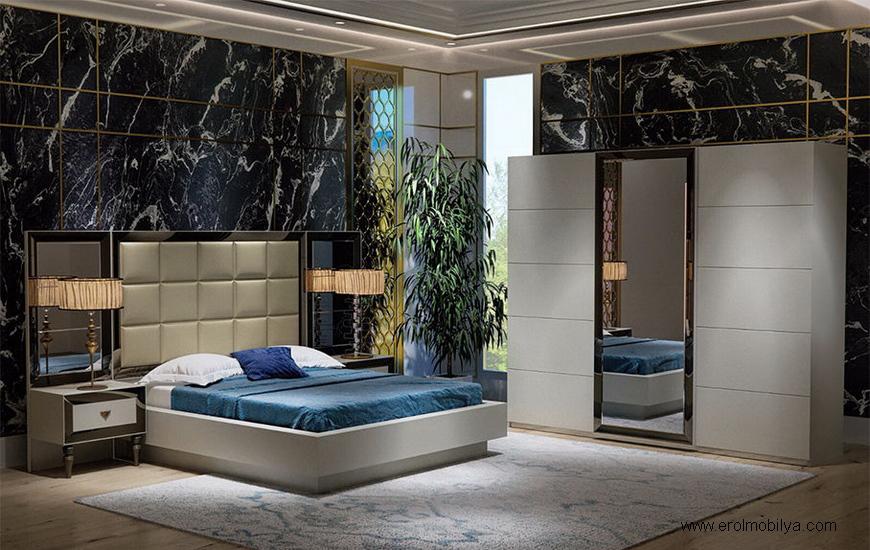 Bronz Bazalı Yatak Odası Takımı